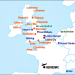 Map of summer 2017 flights from UK to Bergerac Airport