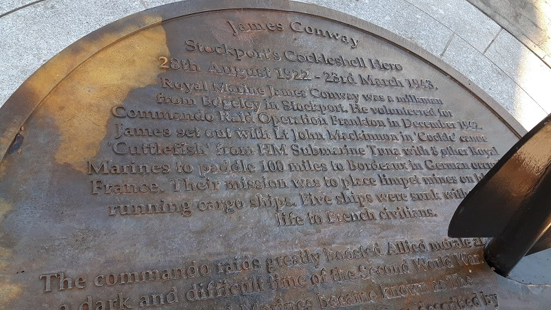 James Conway statue text