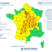 Heatwave weather warning from Météo France