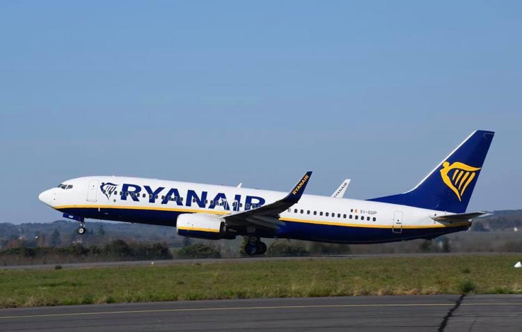 Ryanair aircraft taking off